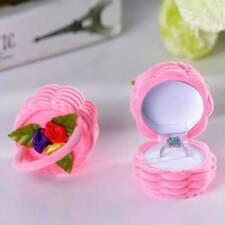 1PC Rose Flower Basket Design Jewelry Display Storage Box Case Ring Box SALE