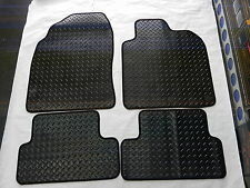 Tailored Rubber Black Car Winter Mats for NISSAN QASHQAI 07