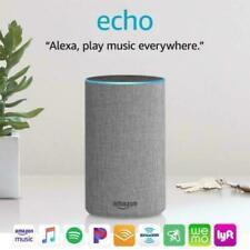NEW!! Amazon Alexa Echo (2nd Generation) Smart Speaker Heather Gray Grey