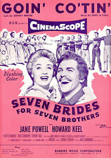 "SEVEN BRIDES FOR SEVEN BROTHERS Sheet Music ""Goin' Co-Tin'"" Jane Powell"