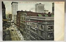 early 1900s Vine St North From 3rd St Postcard Cincinnati Ohio Antique PC