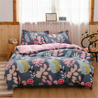 Single/Double/Queen/King Bed Leaf Grey Duvet/Doona/Quilt Cover Set Cotton Lemon