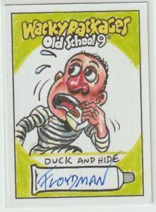 Wacky Packages Old School 9 Sketch Card Floydman