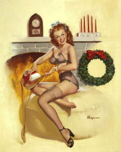Gil Elvgren Pin Up Girls Giclee Art Paper Print Poster Reproduction