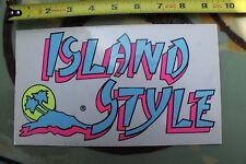Island Style Surf Hawaii Aloha Surfboards Neon 80's V4 Vintage Surfing Sticker