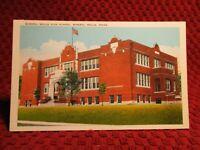 1930'S. MINERAL WELLS HIGH SCHOOL. MINERAL WELLS, TEXAS. POSTCARD E8