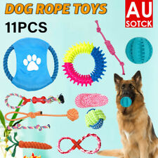 New 11PCS Dog Rope Toys Pet Puppy Teeth Bear Braided Tough Strong Rope Chew Bite