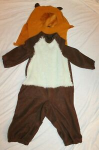 Rubie's Star Wars Ewok Halloween Costume Toddler 2-Piece Brown Gold Fleece