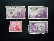 1934 US Commemoratives #736-739  MNH OG