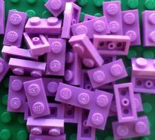Lego Bulk Lot Of 100 Light Purple 1x2 Plates New Friends Girls