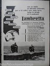 1952 LAMBRETTA 2° CONCORSO TURISTICO SCOOTER RALLY RACE RAID PUBBLICITA ADVERT