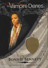 VAMPIRE DIARIES SEASON 1 COSTUME WARDROBE CARD KAT GRAHAM AS BONNIE BENNETT/M6