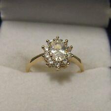 Bague Marquise T50 52 54 56 58 60 62 Diamant 11mm Plaqué Or 18K de Dolly-Bijoux
