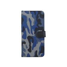 LG K4 2017 Book Case Moro Camouflage Armee Militär DUNKEL BLAU