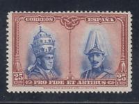 ESPAÑA (1928) NUEVO CON FIJASELLOS MLH - EDIFIL 409 (25 cts) CATACUMBAS - LOTE 1