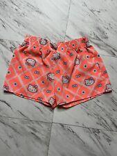 Hello Kitty Girl's Shorts Size M (7-8) Bright Orange Cats