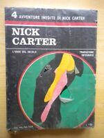 Nick Carter l'eroe del secolo 4 avventure inediteNerbiniLibro nero 2 Nuovo 219