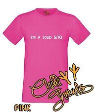 I'M A SOLID 5/10, funny adult humour T-shirt Vest Tshirt
