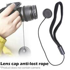SLR DSLR Camera Lens Cover Cap Keeper Holder Strap Lanyard Rope Anti-lost String