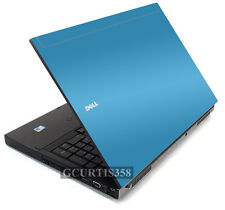 SKY BLUE Vinyl Lid Skin Cover Decal fits Dell Precision M6400 M6500 Laptop