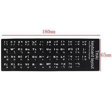 Thai Keyboard Stickers English Thai Fonts Standard keyboard Sticker white