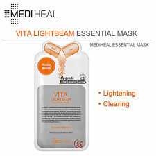 MediHeal Vita Upgrade Lightbeam Essential Mask (10pcs)US-Seller!Free Gits+Sample