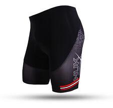 Herren Atmungsaktiv Radfahren Fahrradbekleidung Radhosen Fahrradhose Schwarz