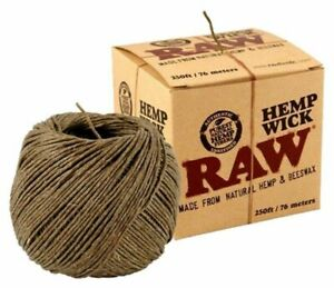 RAW Wick Natural Unbleached Beeswax Hemp Wick Dispenser Unbleached