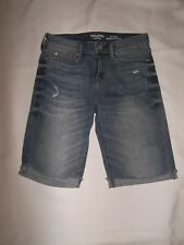 WOMENS LEVI'S DENIZEN DENIM SHORTS SIZE 2 WAIST 26