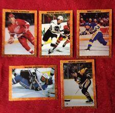 NHL BRODER 5 CARDS HOCKEY    GRETZKY LEMIEUX YZERMAN HULL SUPERSTAR LOT ODDBALL