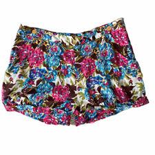 * BNWT * Joules Blumendruck Damen Shorts Sz 18 UK Taschen/b25