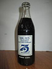 1900-1975 ATLANTA COCA-COLA BOTTLING COMPANY 75th Full Coke Commemorative Bottle