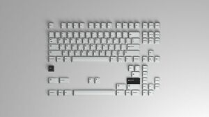 GMK Bleached Base kit doubleshot keycap keyset