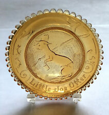 Little Joe Otter - Amber - Thornton Burgess Pairpoint Glass Cup Plate- R40