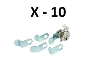 10 HD Supply 881310 5-Cam HL1 Keyway Mail Box Lock with 2 Keys
