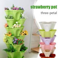 Stack Up Vertical Stackable Strawberry Herb Garden Planter Flower Veg Pots DIY
