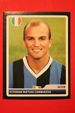 PANINI CHAMPIONS LEAGUE 2006/07 # 132 INTER CAMBIASSO BLACK BACK MINT!