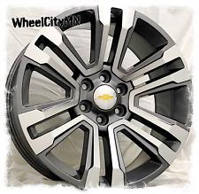 22 Inch Gunmetal Machine 2018 Chevy Tahoe Suburban Ltz Oe Replica Wheels 6x55
