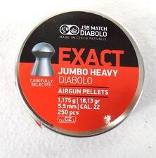 JSB EXACT PELLETS .22 CAL HEAVY 18.13 GR 250 PCS