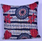 "Kantha Throw Sofa Pillow Cover Bohemian Pillow Case Indian Cushion Cover 24"" Art"