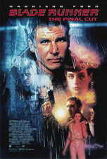 BLADE RUNNER - THE FINAL CUT Movie Promo POSTER Harrison Ford Rutger Hauer