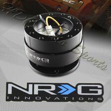 NRG Black Aluminum Ball Lock 6-Hole Steering Wheel Gen 2.0 Quick Release Adapter