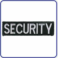SECURITY Patch Badge Sew on or Iron on 95 x 25mm for Military Door Prison Guards