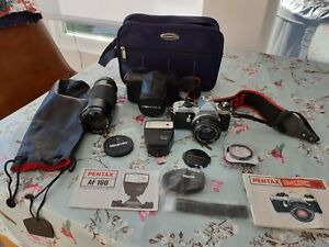 Pentax ME Super 35mm SLR Film Camera - Standard50mm and Miranda 75 - 300 mm Lens