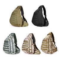 Tactical Molle Sling Bag Military Outdoor Backpack Assault Shoulder Day Rucksack