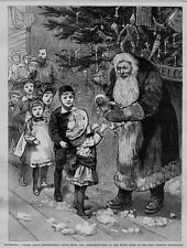 SANTA CLAUS DISTRIBITING GIFTS IN NEW ORLEANS LOUISIANA EXPOSITION MUSIC HALL