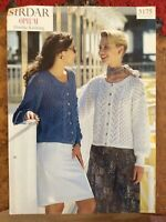 Womens knitting patterns.cardigans.size 30-44 inch bust.DK.Sirdar.lacy pattern