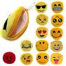 Cute Emoji Coin Purse Soft Plush Small Pouch Mini Smile Wallet Womens Card ID