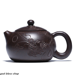 handmade tea pot Chinese real yixing zisha kungfu tea pot carved dragon xishi