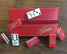 Cerveza Victoria Beer Dominoes Game Set Double 6 Domino Man Cave Bar Cantina Pub